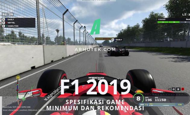 spesifikasi f1 2019